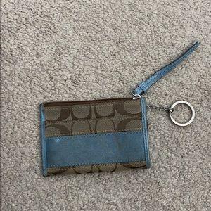 Coach keychain coin purse